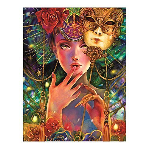 Diamant Malerei, nelnissa Maske Queen DIY 5D Diamant Gemälde Stickerei Kreuzstich Mosaik Craft