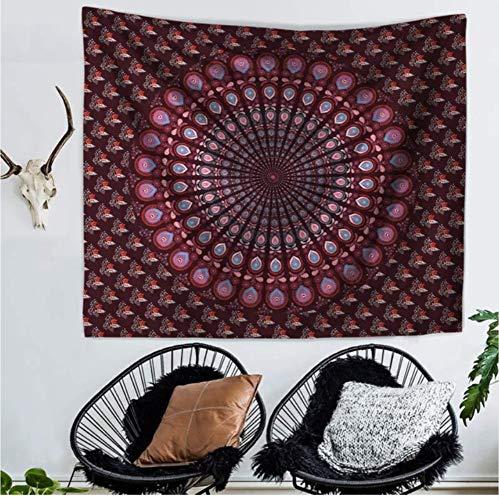 HYDDAXJW Bohemio Hippie Indio Mandala Tapiz Colgante De Pared Tapicería De Tela Decorativa Mandala Decoración Manta De Playa Colcha (W) 150X (H) 230Cm