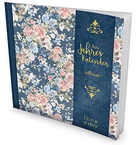 GOCKLER® 3 Jahres Kalender: 190+ Seiten Journal für 3 Jahre || Glänzendes Softcover || Ideal als Tagebuch, Notizkalender, Aufgabenplaner oder Erfolgsjournal || DesignArt.: Wunderschön