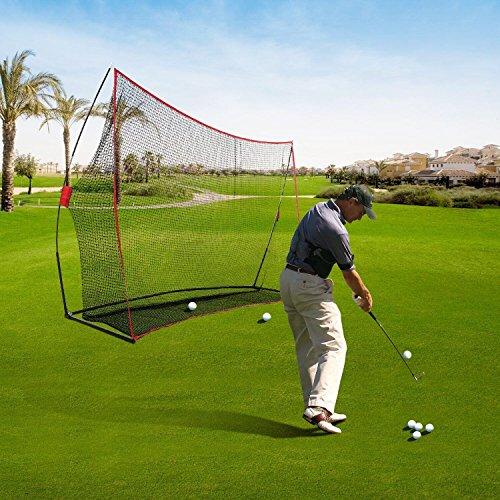 Ancheer Golf Netz, Trainingsnetz Chipping Netz im Garten mit 600D Oxford Tuch ,10*7*3ft Test