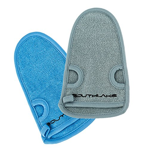 2x Beauty Peeling-Handschuh aus Naturfasern - für Körperpeeling, Hamam, Wellness