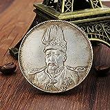 Bluelover Sombrero De Copa Dragón Chino Recoge Monedas Antigua China Yuan Shikai Moneda Tibet Plata