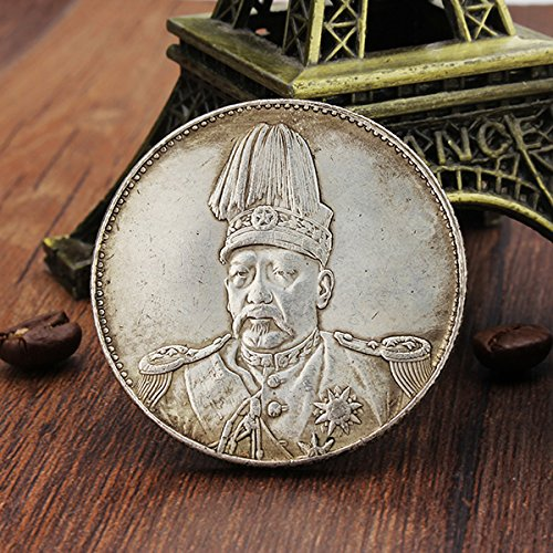 top-hat-dragon-chinois-collecter-des-pices-old-silver-chine-yuan-shikai-coin-tibet