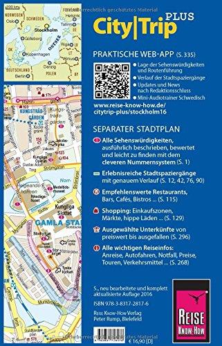 Reise Know-How Reiseführer Stockholm mit Mälarsee und Schärengarten (CityTrip PLUS): mit Stadtplan und kostenloser Web-App: Alle Infos bei Amazon