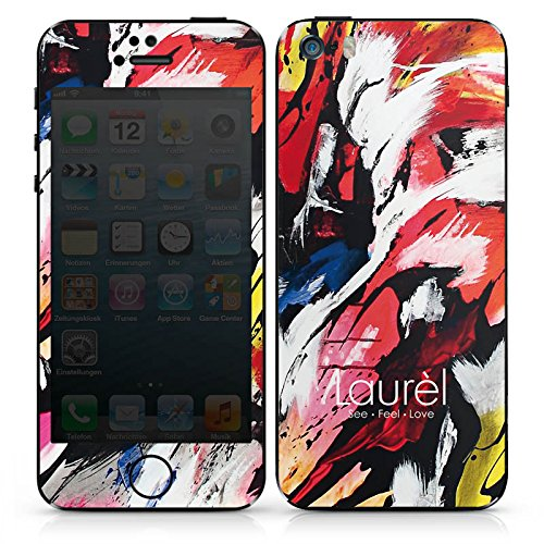 Apple iPhone SE Case Skin Sticker aus Vinyl-Folie Aufkleber Laurèl Art Phone Laurel DesignSkins® glänzend