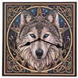 Acquista Picture Clock - Celtic Wolf Head by Lisa Parker