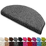 Floordirekt Stufenmatten Treppenmatten Shaggy - Venus Halbrund 10 Aktuelle Farben
