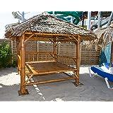 Überdachter Bambus Sala/Pavillon (Braun)