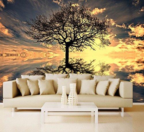 Preisvergleich Produktbild Vlies XXL-Poster Tapete Fototapete Natur Lebensbaum Material Decor selbstklebend,  Größe 160 x 120 cm 2-tlg