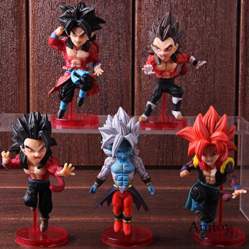 Ball Super Dragonball Helden Vol. 3 Super Saiyajin 4 Son Goku Gohan Gogeta Vegeta Action Figure Spielzeug 5 Teile/Satz ()