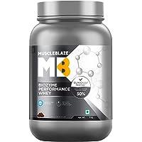 MuscleBlaze Biozyme Performance Whey Protein (Rich Chocolate, 1 Kg / 2.2 lb)