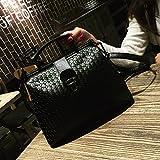 klxeb Kleine Tasche weiblich Tasche Tide Single Schultertasche mit eingewebtem auf dem Wild weiblich Paket Shell Kleine Pakete, Schwarz