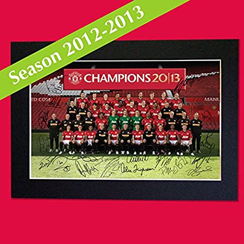 MAN UNITED TEAM 2012-2013 SQUAD PHOTO SIGNED reproduction autograph PRINT 201 x297mm A4