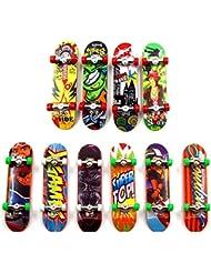 Sipobuy Mini Skateboard Toy Deck Truck Finger Board Skate Park Boy Kid Children Gift Random 3pcs