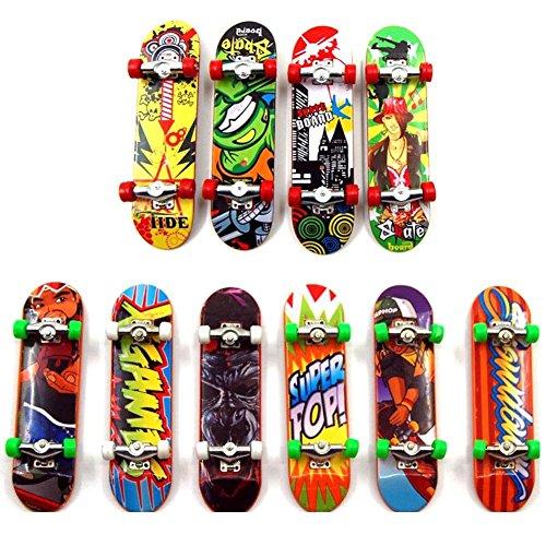 Sipobuy Mini Fingerboard, 3 Pack Skateboard professionnel Finger pour Tech Deck Érable Wood Ensemble de bricolage Skate Boarding Jouets Jeux de sport Cadeau pour enfants