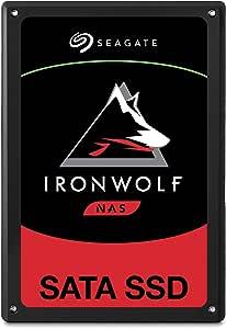 Seagate IronWolf 110 SSD, interne SATA SSD für NAS, 3840 GB, 2.5 Zoll, bis zu 560 Mb/s, schwarz, FFP, inkl. 2 Jahre Rescue Service, Modellnr.: ZA1920NM10011