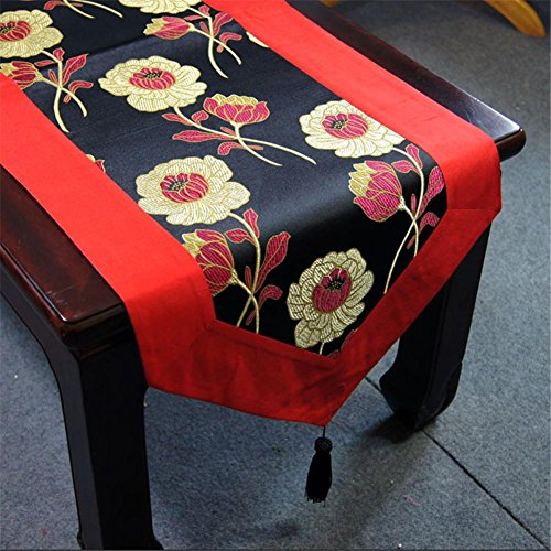 Preisvergleich Produktbild XXFFH Tischläufer Wallpapers Tischdecke Platzdeckchen Klassische Hochwertige Seide Tischtuch Tischläufer , B , 225*40Cm