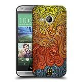 Head Case Designs Grau Und Gelb Lebhafter Wirbel Snap-on Schutzhülle Back Case für HTC One Mini 2