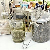 Generic 1Pcs Stainless Handle Tea Filter Tea Strainer Steel Mesh Ball Silver