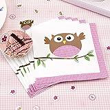 Neviti Little Owls Servietten, Pink