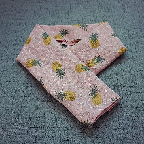 r Schal weibliche Kinder 'S Schals Winddicht warme Baby Schal Wilde Baumwolle Leinen Schal,Ananas Haut Toner ()