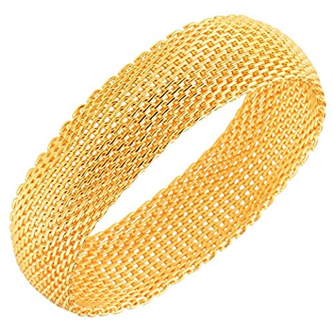 Fashion Jewelry Hollow Cuff Retro Braid Big 18K Gold Plated Bangles Wide For Women Men Party Gift BR70006