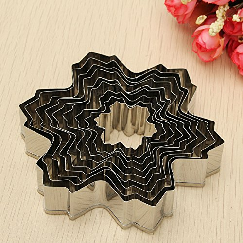 Frill Cutter (Anddod 9Pcs Stainless Steel Snowflake Biscuit Cookie Cutters Fondant Cake Decorating Mold)