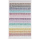 Wowot - Hoja de brillantes autoadhesivos en 15 colores, ideales para artesanía, decoración, etc.