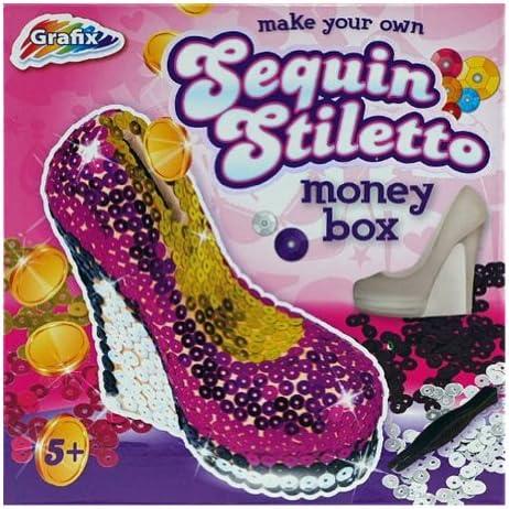 Grafix faire vos propres chaussures à paillettes Glamour Stiletto Stiletto Stiletto Tirelire B00FGOZ2I0 101b2a