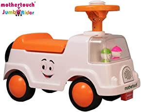Mothertouch Jumbo Rider Ride On for Infants and Kids (Orange)