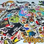 Aufkleber Stickerbomb 200 Stück Pack - Hochwertiges Qualität. Für Laptop, Notebook, Auto, Skateboard, Kinder, Koffer, Fahrrad, stickers set High Quality Vintage Decals 200pcs Vinylaufkleber - King Mungo - KMST003