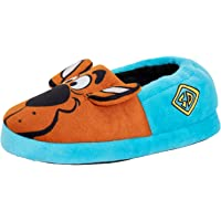 Scooby Doo Kids Slippers Boys Girls 3D Ears Slip On Mules Warm Lined House Shoes
