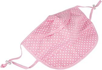 SYGA Dotted Pattern Breathable mesh UV mask for Women (Pink)
