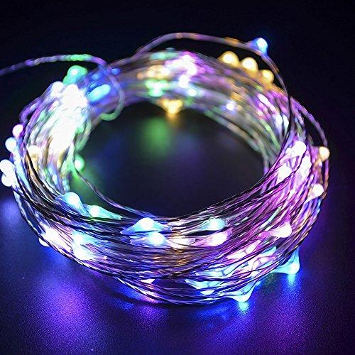 5M stringa fata luce 5m 50 LED String luce per la decorazione casa matrimonio Natale partito Rame filo della lampada anche per Festa, Giardino, Natale, Halloween, Matrimonio-RGB