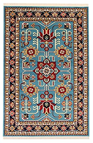 A2Z Rug Modern & Traditional Persian Design (Blue - 100x150 cm - 3'3''x4'9'' ft) Area Rugs Pazirik Collection - Contemporary Living & Dinning & Bedroom Soft Carpet