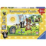 Ravensburger 07558 - Lernspaß mit Maulwurf - 2 x 12 Teile Puzzle
