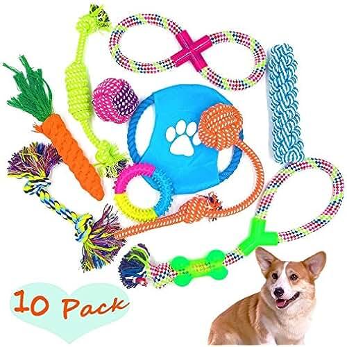 regalos tus mascotas mas kawaii 10pcs Juegos de Mascotas Masticar Juguete Trenzado Perro Cuerda de Juguete Para Perro Morder Limpio Diente