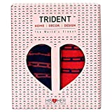 #7: Trident HIS and HER 525 GSM 100% Cotton Cuple Bath Towel (Pink and Blue)- Set of 2