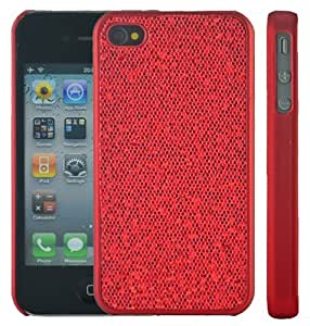 Apple iPhone 4, 4S Jewelled Bling Sparkle Glitter Case, Cover - Red