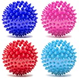 TNP Accessories Spiky Massage Balls Stress Reflexology - 6cm, 8cm & 10cm Ball (7.5cm, Red)