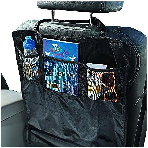 Sidekick - Protectores contra patadas para asiento de coche - 2 unidades - Mantenga los respaldos de los asientos del coche protegidos contra los pies sucios de niños - Complete con organizadores prácticos tipo bolsillo.