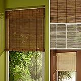 HOMELIA Bambusrollo / Lichtdurchlässig, mit Zugschnur / 090 x 240 natur / Wand-und Fenstermontage
