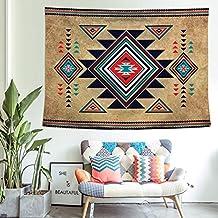 FGVBWE4R Tapiz Colgante de Pared Suroeste Nativo Americano Arte Decorativo de Pared Colchas Aztecas Hojas 150x200cm