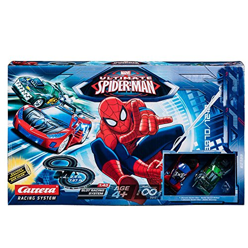 circuito coche Ultimate Spider-Man vs Duende Verde Carrera Racing NUEV