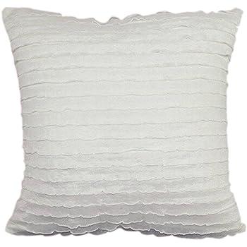 Nunubee tessuto di pizzo shabby chic copricuscini e federe cuscini decorativi per divano letto - Cuscini decorativi letto ...