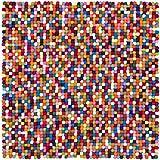 myfelt Lotte Filzkugelteppich, quadratisch, Schurwolle, bunt, 50 x 50 cm