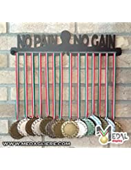 MEDALLAS DE PARED Medal Display (NO PAIN NO GAIN man design)