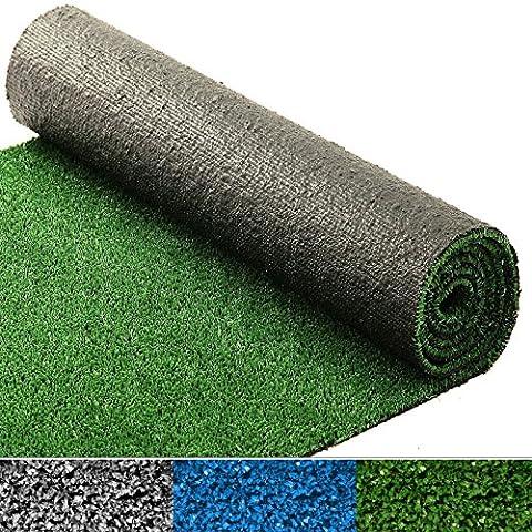Moquette d'extérieur casa pura® au mètre | tapis gazon synthétique | résistant | jardin, terrasse, balcon, terrain de golf, etc. | vert - 200x200cm