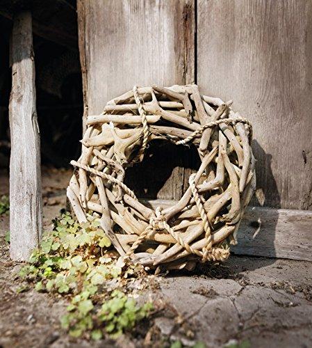 """TFH Deko - Kranz """"Sylt"""" Natur Holz Holzdeko Treibholz Türkranz Holzkranz"""