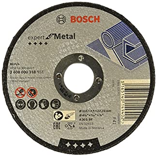 Bosch 2 608 600 318 – Disco de corte recto Expert for Metal – A 30 S BF, 115 mm, 2,5 mm (pack de 1)